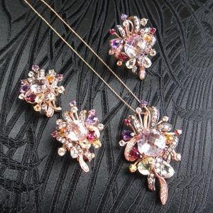 Le Vian 14K Rose Gold Pendant, Earrings & Ring
